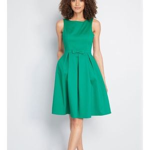 Green Bow Dress